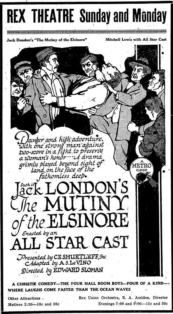 The Mutiny of the Elsinore (1920 film) movie poster