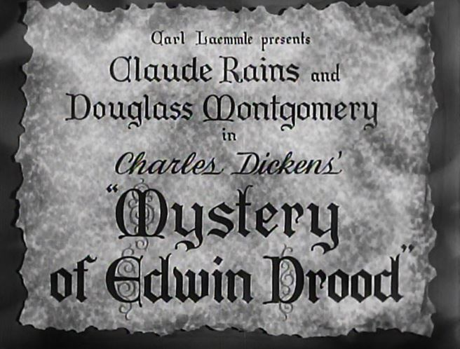 The Mystery of Edwin Drood (1935 film) MYSTERY OF EDWIN DROOD 1935 Classic Horror Film Board