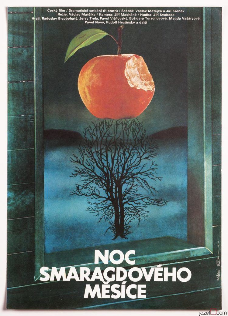 The Night of the Emerald Moon Vintage Poster The Night of the Emerald Moon 1980s Poster