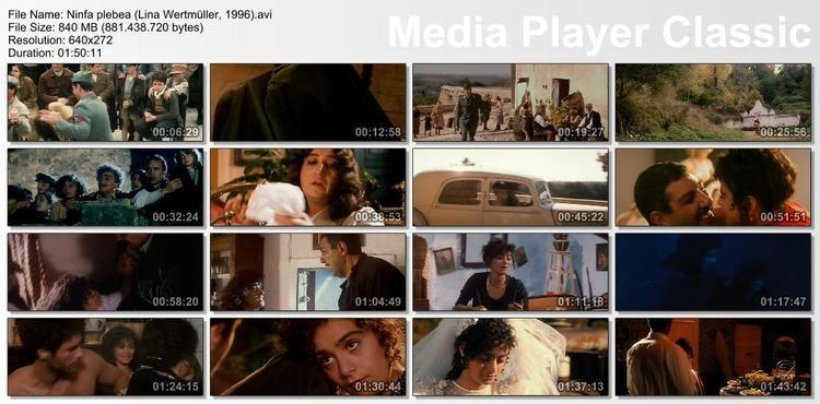 The Nymph FILMOTECA HAWKMENBLUES Ninfa plebea Lina Wertmller 1996