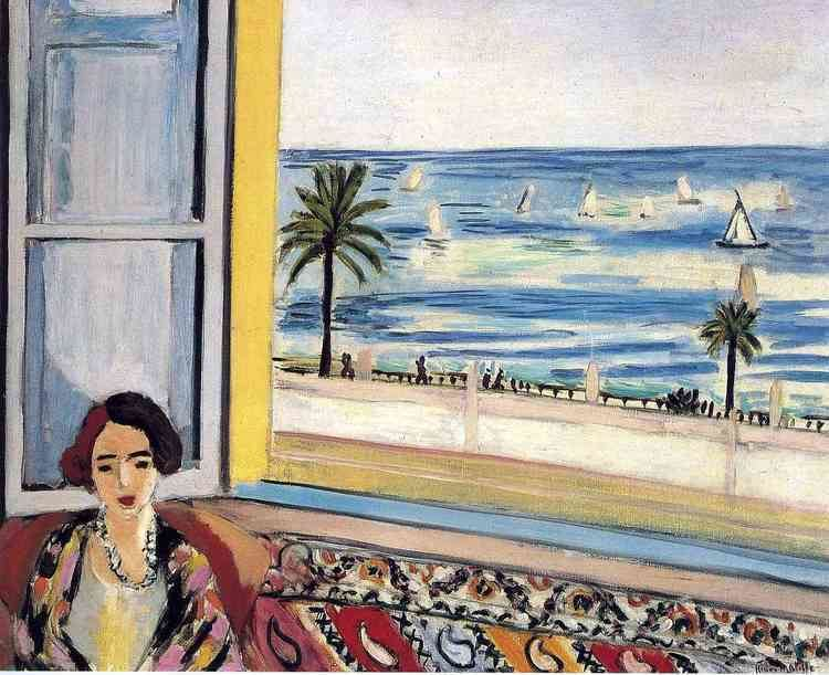 The Open Window (Matisse) Seated Woman Back Turned to the Open Window Henri Matisse