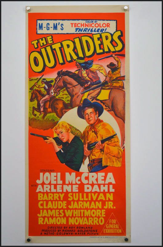 The Outriders 1950 An Original Vintage Movie Poster