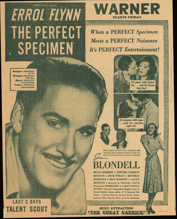 The Perfect Specimen The Perfect Specimen 1937 Film Ad The Errol Flynn Blog