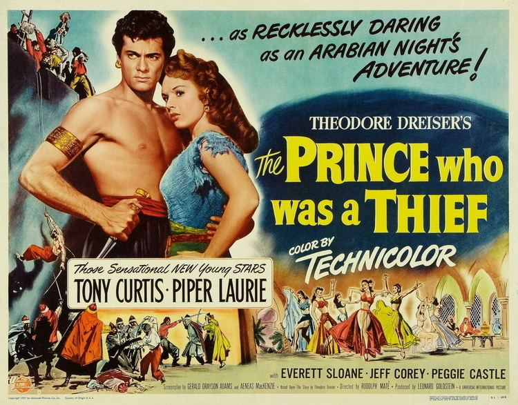 The Prince Who Was a Thief THE PRINCE WHO WAS A THIEF 1951 Tony Curtis Piper Laurie