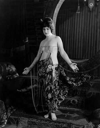 The Queen of Sheba (1921 film) Betty Blythe in one of her many nearnude costumes in the 1921 film