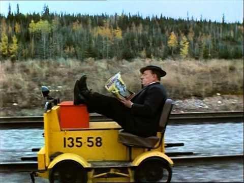 The Railrodder Buster Keaton in The Railrodder 1965 YouTube