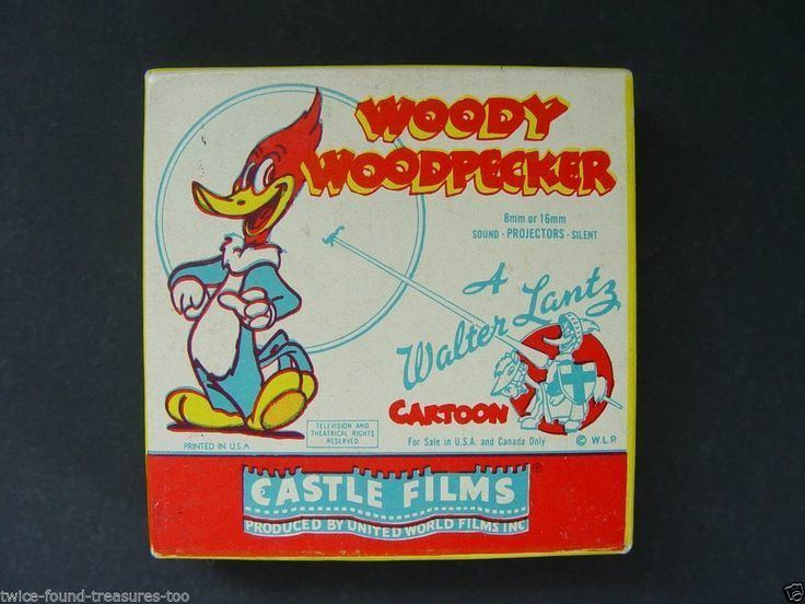 The Redwood Sap movie scenes VINTAGE WOODY WOODPECKER CARTOON SUPER 8MM FILM CASTLE FILMS 495 REDWOOD SAP R2R Film 495