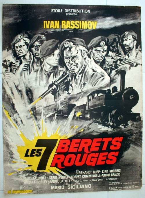 The Seven Red Berets 23quot x 31quot movie poster from THE SEVEN RED BERETS 1969