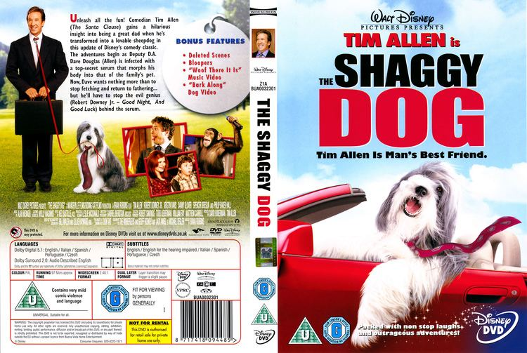 The Shaggy Dog (2006 film) The Shaggy Dog 2006 R2 Movie DVD CD Label DVD Cover Front Cover
