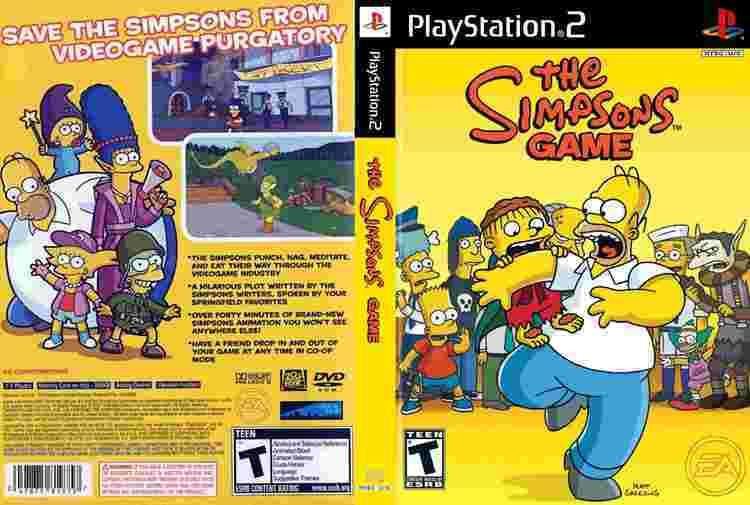 The Simpsons Game Simpsons Game The USA ISO lt PS2 ISOs Emuparadise
