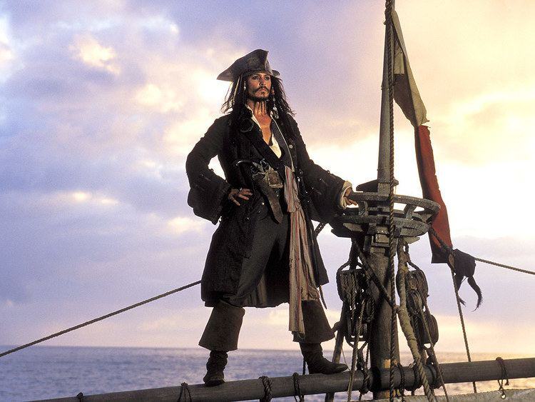 The Sparrow (novel) movie scenes Johnny Depp Jack Sparrow in Pirates of the Caribbean