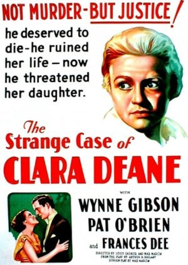 The Strange Case of Clara Deane The Strange Case of Clara Deane 1932 Posters The Movie