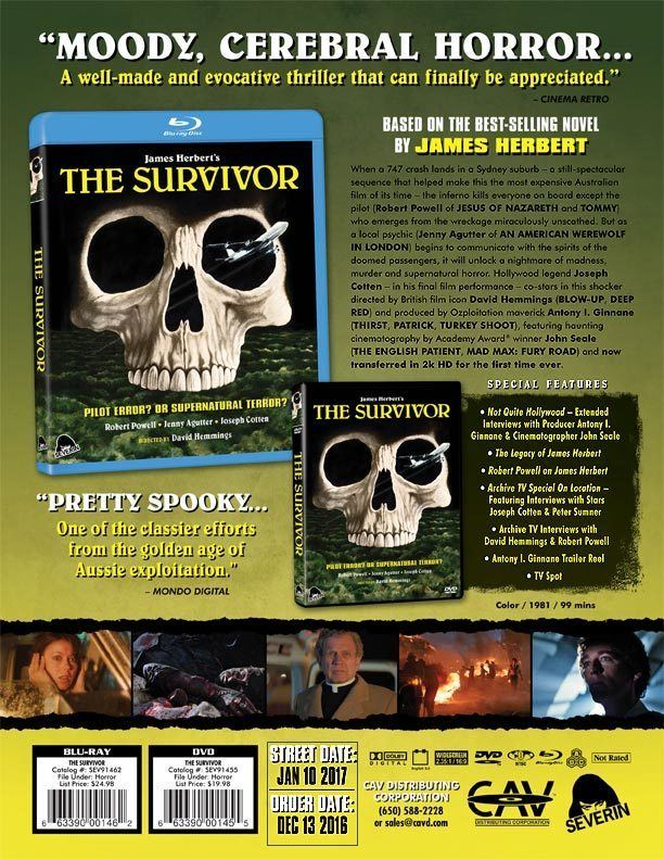 The Survivor (1981 film) The Survivor Is Coming On Bluray And DVD In January From Severin
