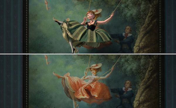 The Swing (painting) The Swing How this naughty 1767 oil painting inspired Disney39s