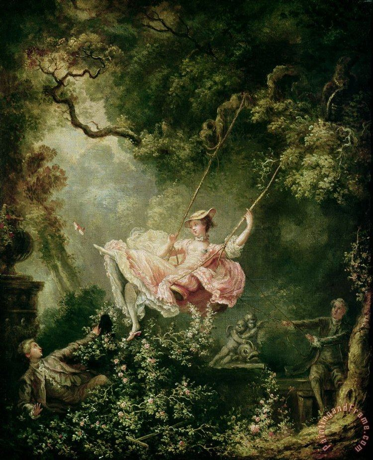 The Swing (painting) Jean Honore Fragonard The Swing painting The Swing print for sale