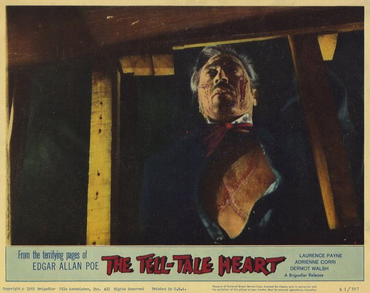 The Tell-Tale Heart (1960 film) The TellTale Heart 1960 Movie Poster Lobby Card Size Style B