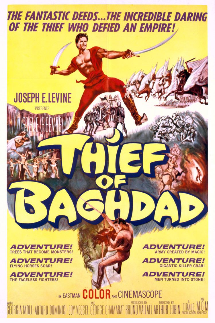 The Thief of Baghdad (1961 film) wwwgstaticcomtvthumbmovieposters41396p41396