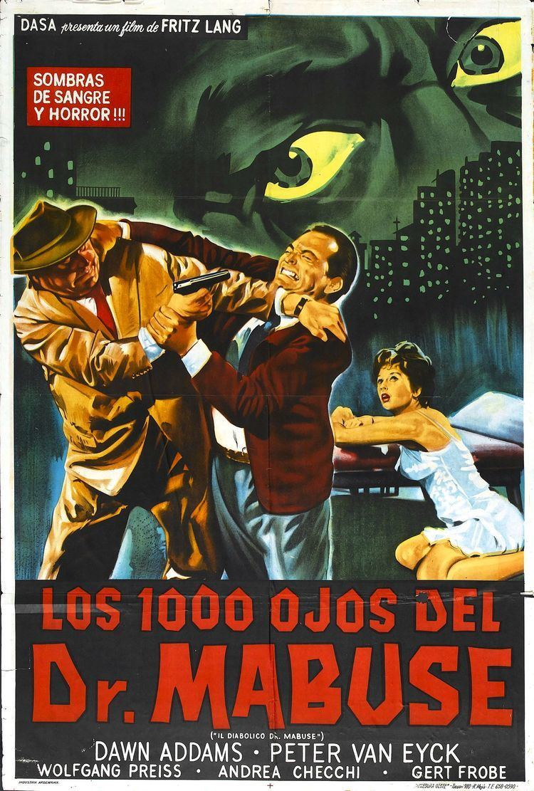 The Thousand Eyes of Dr. Mabuse The 1000 Eyes Of Dr Mabuse 1960 Fritz Lang 2 Cult Film