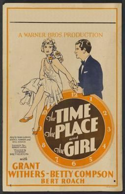 The Time, the Place and the Girl (1929 film) movie poster