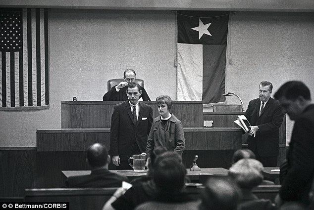 The Trial of Lee Harvey Oswald movie scenes Evidence Marina Oswald Porter with her husband Ken Porter in 1968 at court in Texas