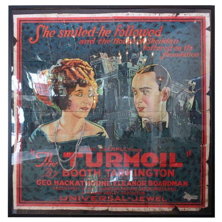 Original Vintage Poster for The Turmoil 1924 For Sale at 1stdibs