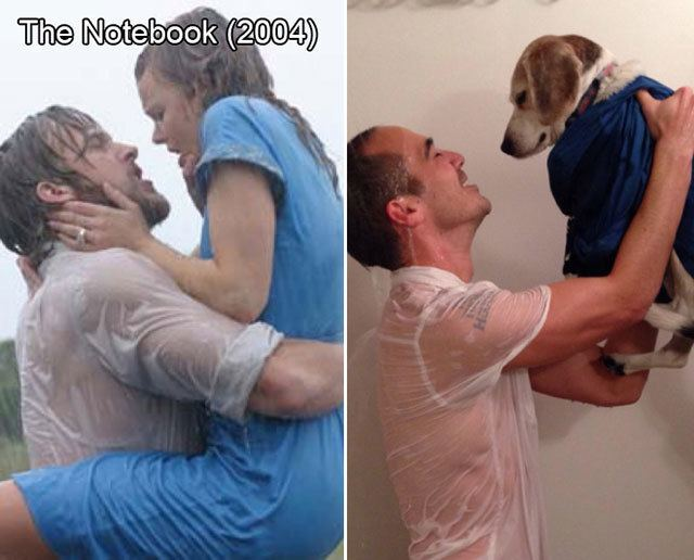 The Under Dog (film) movie scenes guy reenacts famous movie scenes with his dog