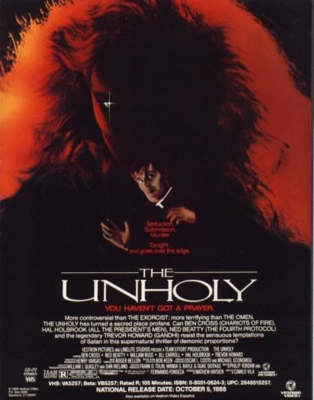 VHS Verdict The Unholy Brings Those Pesky 80s Demons to Church