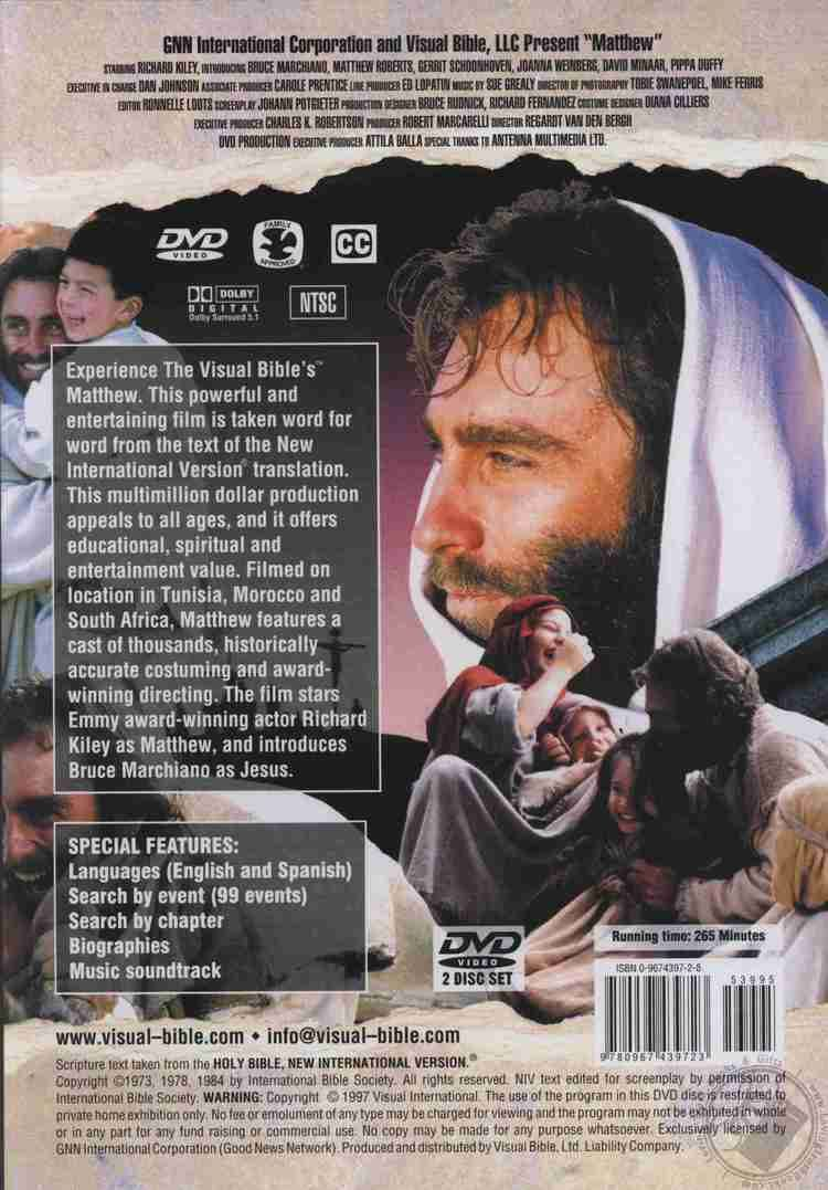 The Visual Bible: Matthew Visual Bible Matthew by LLC Visual Bible DVD Motion Picture