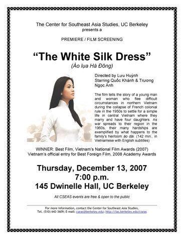The White Silk Dress Cal VSA The White Silk Dress PremiereFilm Screening Cal VSA