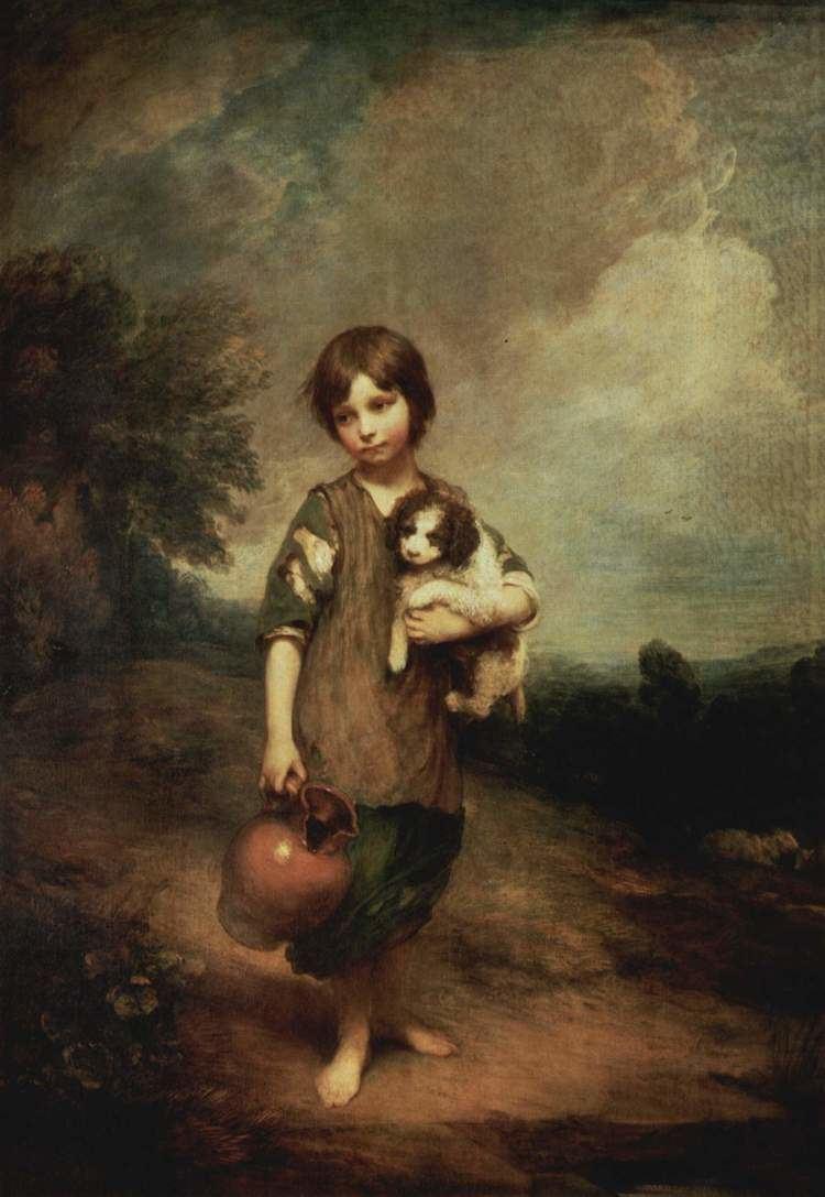 Thomas Gainsborough A peasant girl with dog and jug Thomas Gainsborough