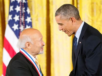 Thomas Kailath Barack Obama felicitates IndianAmerican scientist Thomas