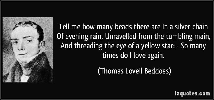 688 song Thomas Lovell Beddoes analysis