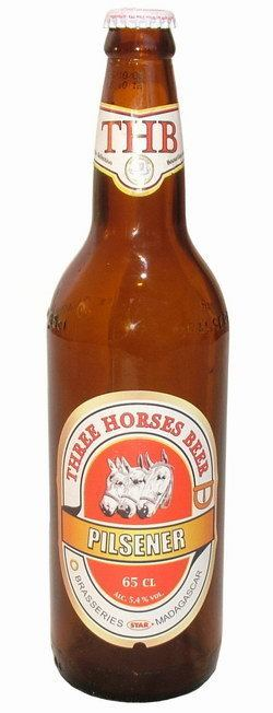 Three Horses Beer Bottle THB Three Horses Beer 65cl Madagascar Library