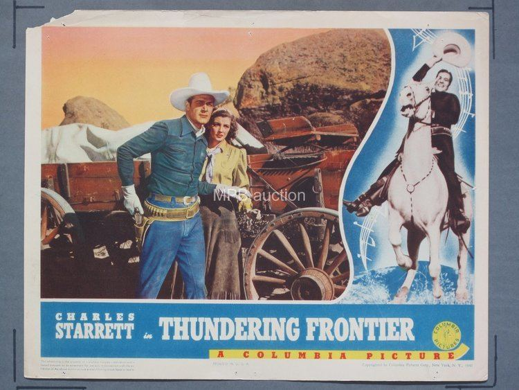 THUNDERING FRONTIER 1940 1114 Lobby Card Movie Posters 2 mpb