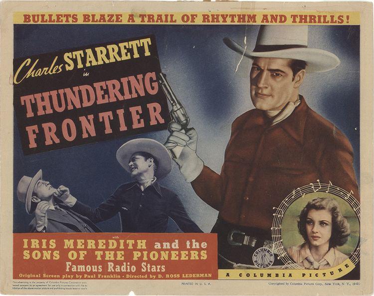 Thundering Frontier 1940 Original Movie Poster FFF35650 FFF