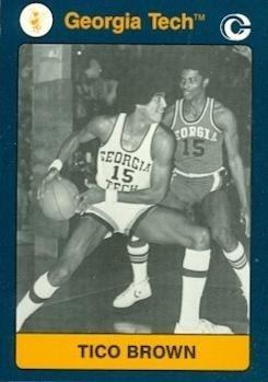 Tico Brown Tico Brown Basketball card Georgia Tech 1991 Collegiate Collection