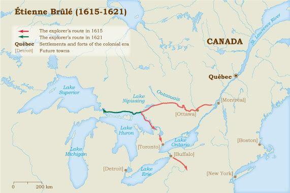 Étienne Brûlé tienne Brl 16151621 Virtual Museum of New France