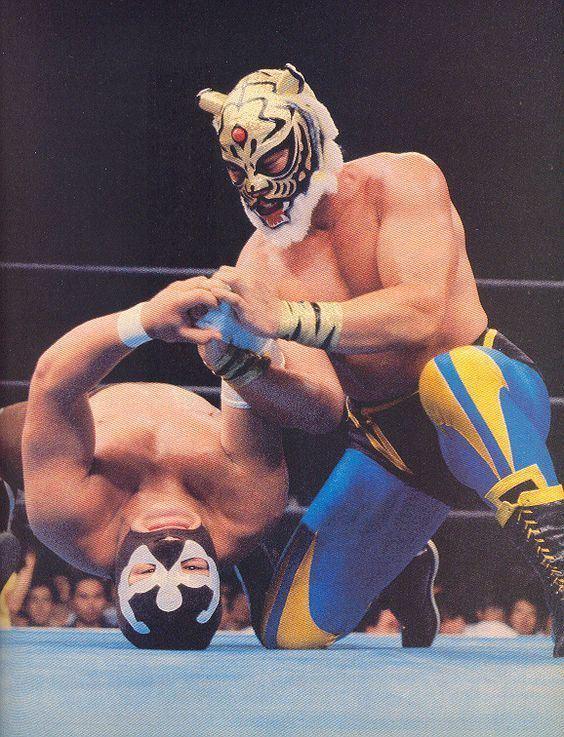 Tiger Mask (professional wrestling) Tiger Mask Satoru Sayama Professional Wrestling Pinterest