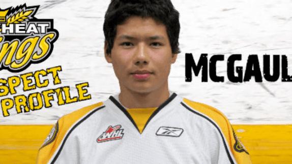 Tim McGauley Brandon Wheat Kings forward Tim McGauley WHL Player of the Week ISN