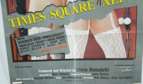 Times Square Comes Alive 1985 Sexploitation 1 Sheet Movie Poster