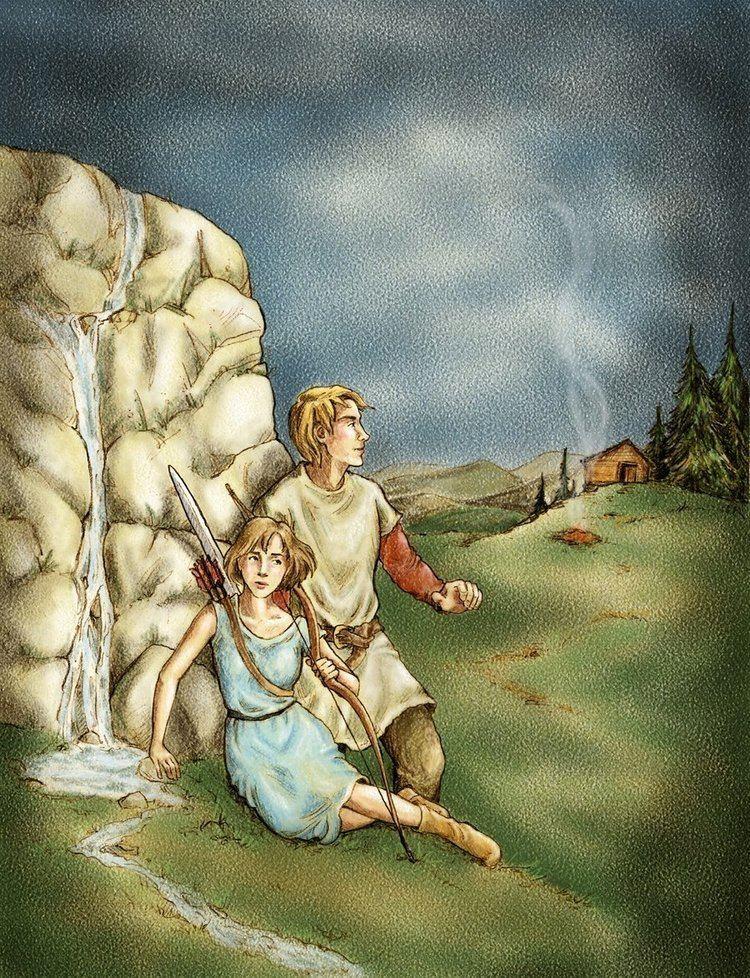 Tirian Jill and Tirian at the white rock by frivolousdistinction on DeviantArt