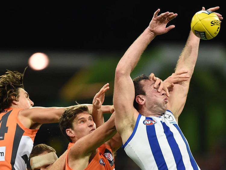 Todd Goldstein North39s Goldstein smashes Giants in AFL SBS News