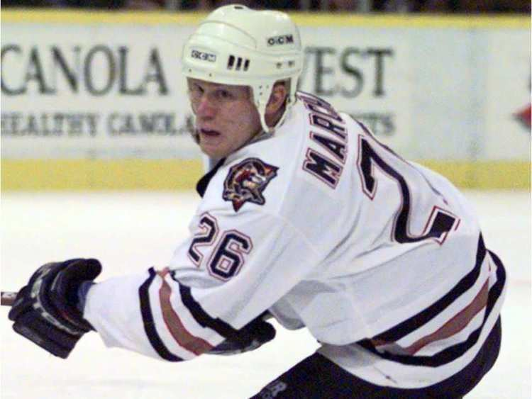 Todd Marchant Hockey World ExOilers centre Todd Marchant is an NHL general