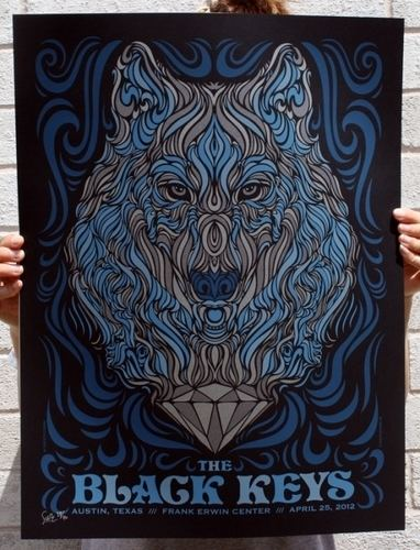 Todd Slater Black keys austin Screenprint by Todd Slater Trampt