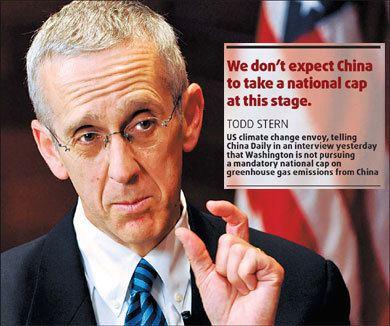 Todd Stern Todd Stern US will not seek cap on emissions chinaorgcn