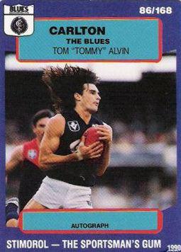 Tom Alvin Blueseum History of the Carlton Football Club Tom Alvin