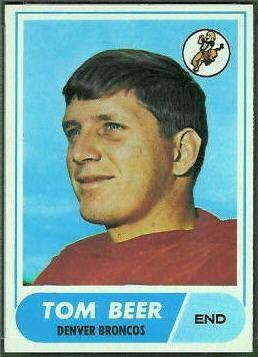 Tom Beer wwwfootballcardgallerycom1968Topps42TomBeerjpg