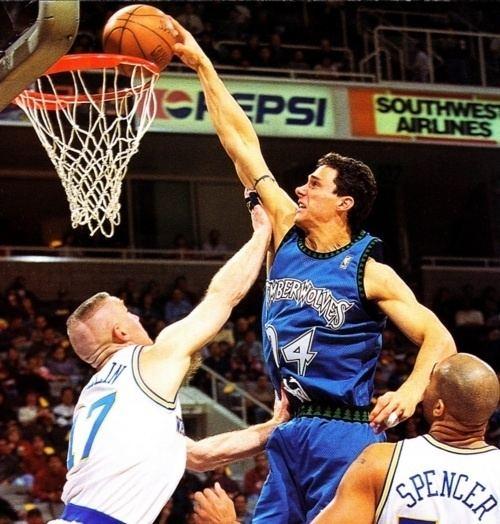 Tom Gugliotta Tom Gugliotta dunking on Chris Mullin Rare NBA Photos