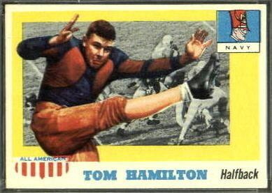 Tom Hamilton (American football) Tom Hamilton 1955 Topps AllAmerican 9 Vintage Football Card
