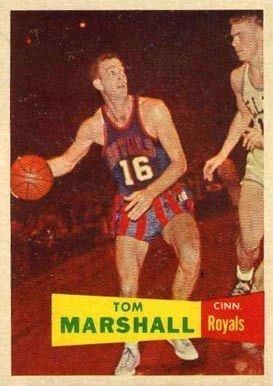 Tom Marshall (basketball) 1957 Topps Tom Marshall 22 Basketball Card Value Price Guide
